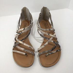 NWOB Carlos Santana Amara Snakeskin sandals, 8.5